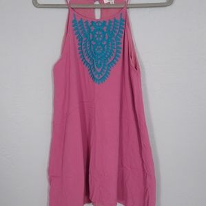 Pink and blue Hayden Los Angeles Mini Dress